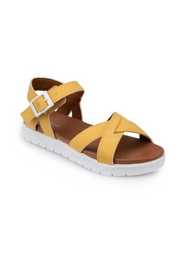 Polaris 91.508159.P Sarı Kız Çocuk Sandalet Sarı